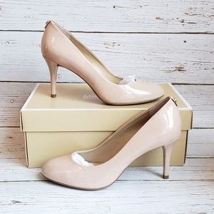 Patent Leather Round Toe Pump by Michael Kors